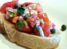 weight watchers bruschetta with roasted garlic and cherry tomatoes recipe