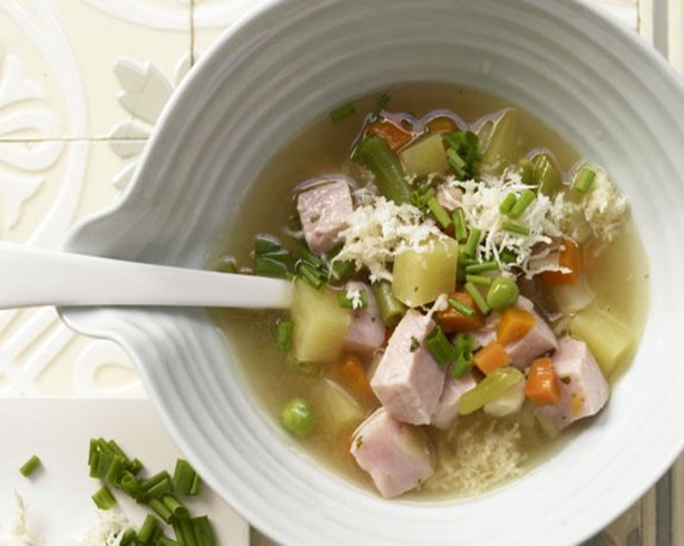 Weight Watchers Potato Soup with Smoked Pork and Horseradish recipe
