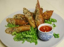 Weight Watchers Egg Rolls with Peanut Dipping Sauce recipe