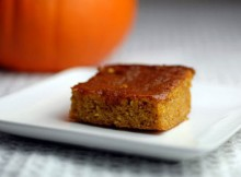 weight watchers low-fat pumpkin bars recipe