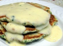 weight watchers spinach cakes with gouda cheese sauce recipe