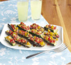 Weight Watchers Eggplant & Zucchini Bruschetta Boats Recipe