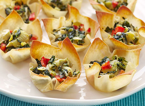 Weight Watchers Warm Spinach-Artichoke Cups Recipe