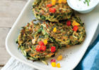 Weight Watchers Zucchini Croquettes with Bell Pepper Recipe
